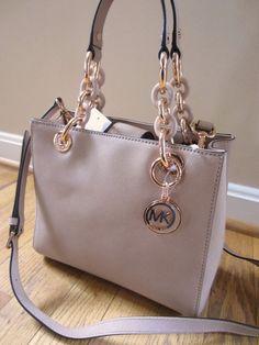 Michael Kors Small NS CYNTHIA BLUSH Satchel Crossbody Messenger Handbag NWT #MichaelKors #SatchelShoulderBag