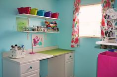 Sewing Rooms In Small Spaces | Small Sewing Space | For the Home