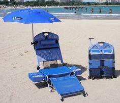 Beach chair and cooler!