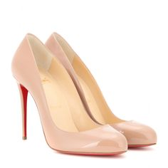 Chistian Louboutin - Dorissima 100 patent leather pumps - Wear yours with anything from distressed denim to an elegant evening dress. Beige Pumps, Beige Shoes, Patent Leather Pumps, Leather Shoes, Nude Heels, Stiletto Heels, Red Bottom Shoes, Christian Louboutin Women, Red Bottoms