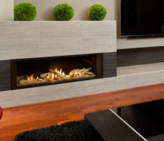 I want to put in a gas fireplace in my living room. I will have to plan this into my remodel. They look so cool, and warm the house nicely. Direct Vent Fireplace, Linear Fireplace, Basement Fireplace, Custom Fireplace, Home Fireplace, Fireplace Remodel, Fireplace Surrounds, Fireplace Design, Fireplace Mantels