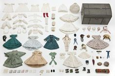 doll, trousseau and its Louis Vuitton trunk from 1865