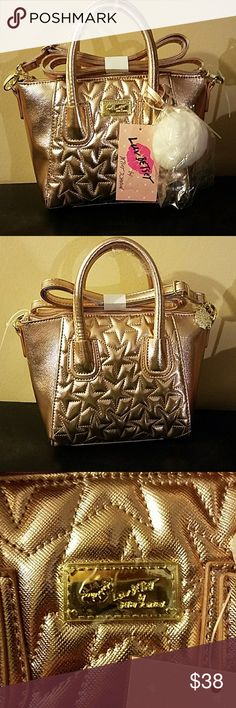 Luv Betsey by Betsey Johnson Rose Gold Dome Purse Brand new, never used. Luv Betsey by Betsey Johnson Rose Gold Dome purse. This bag is super cute and perfect for a summer outing. Betsey Johnson Bags
