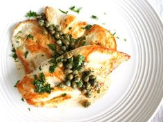 Chicken in Buttery Caper Sauce - Low Carb -  Sauce has three easy ingredients – capers, parsley, butter. In addition to this chicken dish, this sauce can certainly be paired with  pork chop or tenderloin, a pan-seared fillet of fish or roasted vegetables.