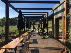 Green Olive Winery at Red Hill, Mornington Peninsula Strawberry Farm, Phillips Island, Big Chair, Island Tour, Pergola Ideas, Olive Green, Melbourne, Bbq, Ocean