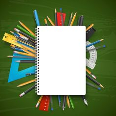School Board and Notebook Background