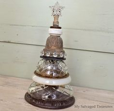 My Salvaged Treasures: Junky Lamp Parts Christmas Trees