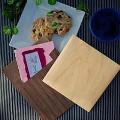 Wooden envelopes, shown in Walnut in Maple. Standard and non-standard sizes available.