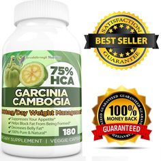 Garcinia Cambogia Pure Extract 75% HCA Breakthrough Nutrition's Potent Fat Burner - 180 Veggie Capsules - Most Effective and Potent Garcinia Cambogia on Amazon - Proven Weight-Loss Fat Burner and Natural Appetite Suppressant ** Quickly view this special product, click the image : Garcinia cambogia