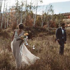 colors of the season | Brisa Dress from BHLDN | image via Blush by B