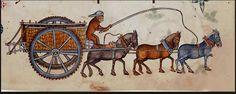Luttrell psalter cart horses
