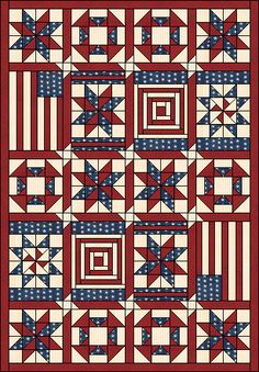 Independence Quilt Pattern. Complete instructions for each block and layout.