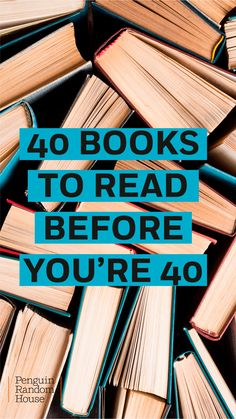 Forty is fabulous and so are these forty books. Discover fiction, history, cookbooks, memoirs, and more to help navigate a new stage of life Book Challenge, Reading Challenge, Historical Fiction Books, Book People, Penguin Random House, Inspirational Books, What To Read, Fantasy Books, Book Authors
