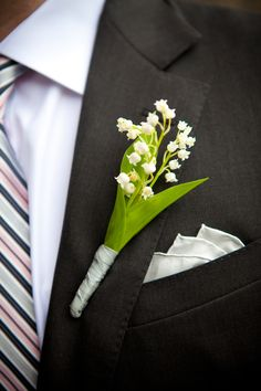 Lily of the Valley Boutonniere | Kathi Littwin Photography | theknot.com