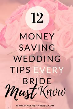 If you need to know how to save money on a wedding, this is the place to go.