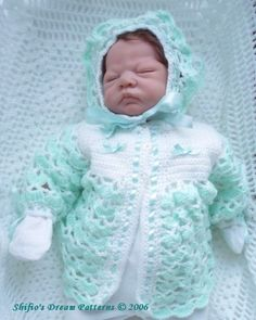 Baby Crochet Pattern Jacket Hat Crochet Pattern DIGITAL by shifio, $3.79