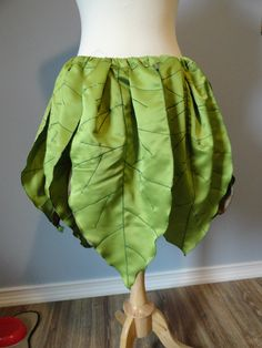 Green and Brown Leaf Fairy Skirt by HelloFaerie on Etsy, $50.00