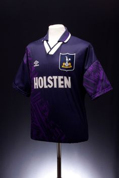Tottenham Hotspur Away Shirt) - have fond memories of Klinsmann wearing this shirt on his competitive debut away against Sheffield Wednesday (result: to Spurs) Classic Football Shirts, Retro Football, School Football, Football Kits, Tottenham Hotspur Football, London Pride, White Hart Lane, Football Images, Football Casuals