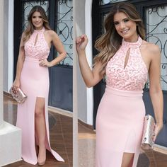 Pink Prom Dress,Halter Prom Dress,Fashion Prom Dress,Sexy Party Dress,Custom Made Evening Dress Casual Dresses, Fashion Dresses, Africa Dress, Victoria Fashion, Evening Dresses, Prom Dresses, Elle Fashion, Vestido Casual, Sexy Party Dress