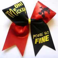 Worlds cheer bow, Mickey Mouse fashion Disney