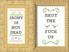 Ok I saw the one on the right and was imagining it on some old ladies' wall....made me giggle :)
