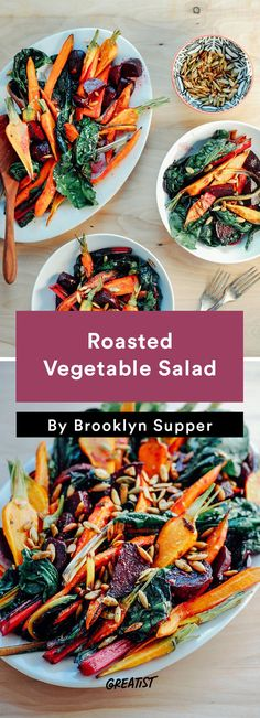 9 Healthy and Easy Salad Recipes That Taste Like Fall 9 gesunde und einfache Salatrezepte, die wie Herbst schmecken Winter Salad Recipes, Chopped Salad Recipes, Spinach Salad Recipes, Chicken Salad Recipes, Easy Salads, Healthy Salad Recipes, Lunch Recipes, Vegetarian Recipes, Recipes Dinner