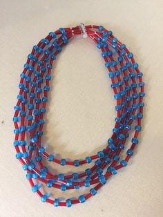 collana di perle - glass beads - perline minute - micro beads - conterie - murano - murano glass necklace - murano glass jewelry di Sanmarcoartedesign su Etsy