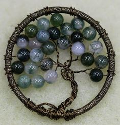 Tree of life pendant jewelry tutorial step by step coiled woven beading the bead world way tree of life wire pendant mozeypictures Choice Image