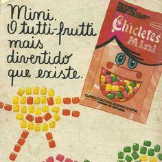 ... Ferro Propaganda!  ferropropaganda. Chicletes Mini (Adams) - 1982 O  delicioso chiclete de tutti-frutti da Adams 3031b91a6f
