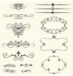 Vintage decorative swirls vector 512257 - by Ghenadie on VectorStock®