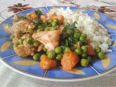 Zöldséges csirkecomb