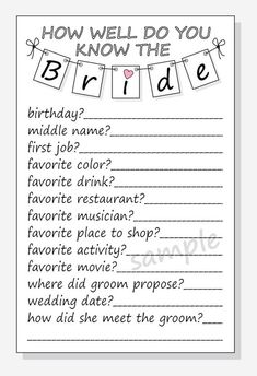 Free Printable Emoji Pictionary Bridal Shower Game Answer