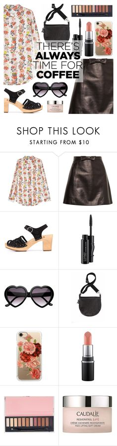 """Buzz-Worthy: Coffee Date"" by dora04 ❤ liked on Polyvore featuring Equipment, Miu Miu, MAC Cosmetics, Casetify, Caudalíe and CoffeeDate"