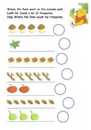 English worksheet: winnie the pooh and his  autumn treasures
