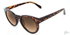 Óculos De Sol Retrô Redondo Fechadura Em Acetato    Ui! Gafas