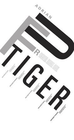 Modern Frutiger Poster by ironblueyes