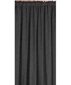 Buy Colour Match Lima Pencil Pleat Curtains - 117x137cm - Black at Argos.co.uk - Your Online Shop for Ready made curtains, Ready made curtains.
