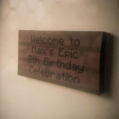 Minecraft party signs
