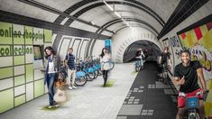 The London Underline by Gensler. London's derelict tube tunnels reimagined as a pedestrian and cycle network. 5 February 2015 | 7 comments News: architecture firm Gensler wants to repurpose London's abandoned tube tunnels to create a subterranean network of pathways that generate electricity as people walk and cycle through them.