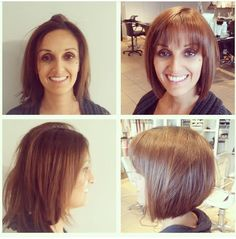 What a difference a cut can make! Sharn looks stunning with her fresh new do! Stylist: Todd