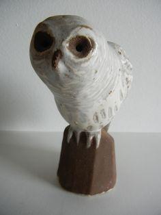 Owl Bird Art Pottery Hand Crafted Ceramic Satin Glaze Vintage Figurine Statue | eBay