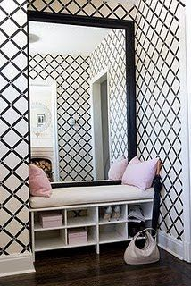 love the concept... maybe for a mudroom or foyer?