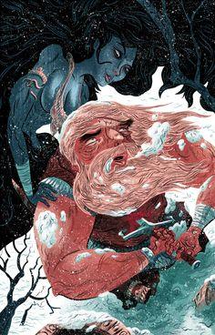 The Viking and the Siren | Logan Faerber Illustration