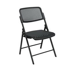 Pro-Line II Deluxe ProGrid Seat and Back Folding Chair in Black (2-Pack)