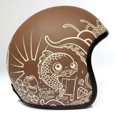 If It's Hip, It's Here (Archives): 5 Artists Design Helmets For Pirates Design Motorcycle Helmet Design, Motorcycle Style, Women Motorcycle, Cool Motorcycles, Vintage Motorcycles, Victory Motorcycles, Baby Helmet, Vintage Helmet, Posca Art