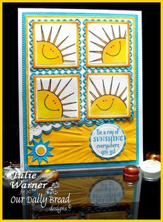 Ray of Sunshine card - ODBD images & dies