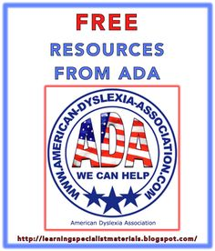ADA is a not for profit organization that provides help for individuals with dyslexia and dyscalculia by offering free online printable worksheets to help children improve their reading, writing, spelling and calculating difficulties.