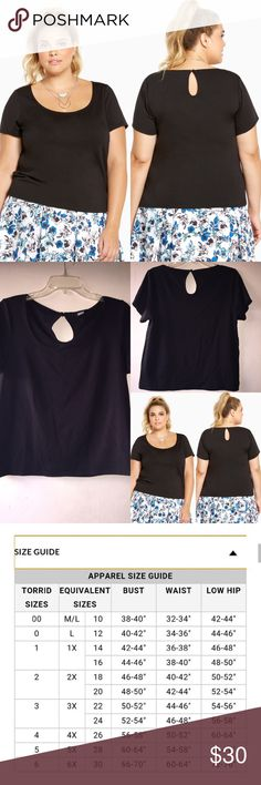 NWT TORRID TOP SIZE 00 BLACK, NO DEFECTS. Size 00. Any questions ask below. torrid Tops Blouses