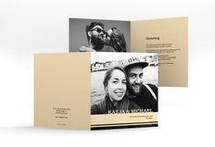 """Hochzeitseinladung """"Horizont"""" - Bis zum Horizont und noch viel weiter gehen Brautpaare mit dieser Einladungskarte"""