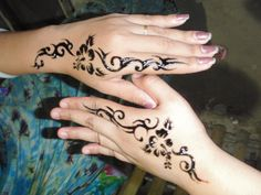 Check Out Simple Henna Tattoo On Hand. Henna is traditionally applied to the hands and feet. That's where you get the darkest color. It's no wonder the hands are such a popular place for people to have their henna done!